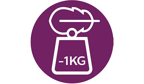 1 kg lighter*