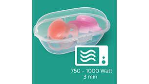 Etapas simples para esterilização confiável em três minutos