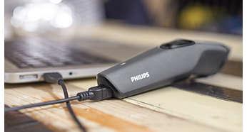 Aufladen über USB für eine bequeme Bedienung