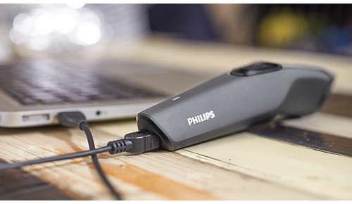 Opladen via USB voor eenvoudig gebruik