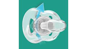 Los orificios de ventilación adicionales permiten que la piel de su bebé respire