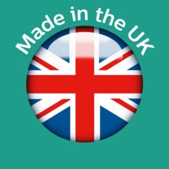 Fabricado en nuestra premiada sucursal en el Reino Unido