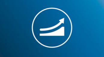 Функция Easy Start помогает привыкнуть к щетке Philips Sonicare