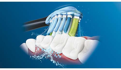 Unsere einzigartige Technologie bietet eine leistungsstarke und dennoch sanfte Reinigung