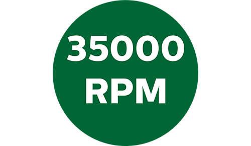 Bis zu 35.000Umdrehungen pro Minute