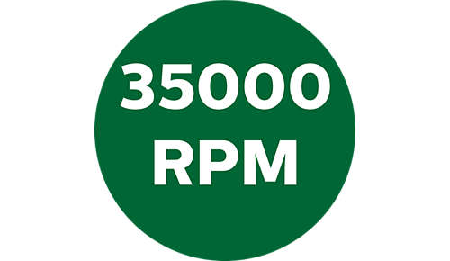 Tot 35.000 toeren per minuut