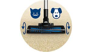 Krtača Turbo za globinsko čiščenje, odlična za čiščenje dlak hišnih ljubljenčkov