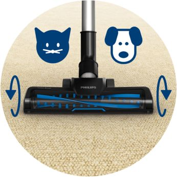 Deep-cleaning Turbo brush, perfect for pet hair