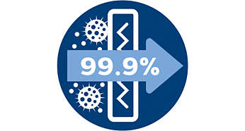 Het allergiefilter houdt 99,9% van de deeltjes tegen, ECARF-gecertificeerd