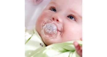 9 out of 10 babies accept our pacifiers*