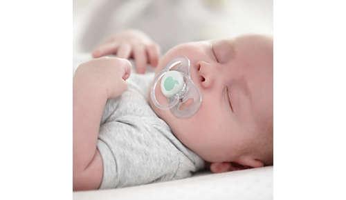 9 van de 10 baby's accepteren onze fopspenen*