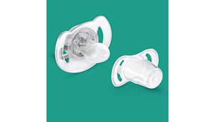 Snap-on cap helps keep your baby's pacifier clean