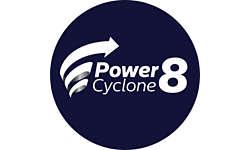 Технология PowerCyclone 8 отделяет частицы пыли от воздуха
