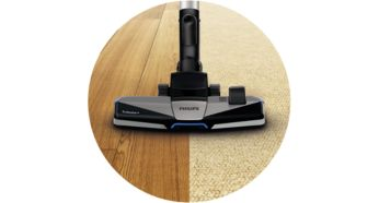 TriActive+ nozzle for 3-way cleaning action - Philips PowerPro Expert Bagless Vacuum Cleaner