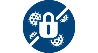 Функция Allergy Lock удерживает пыль внутри
