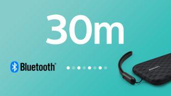 Надежное подключение Bluetooth в радиусе до 30метров