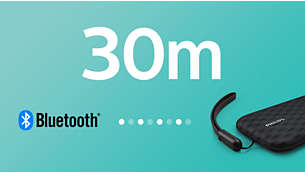 Strong Bluetooth connection up to 30m or 100ft