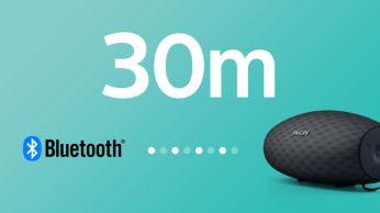 Bluetoothi ühenduse ulatus kuni 30 m