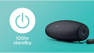 100 godz. czasu gotowości z możliwością korzystania z funkcji Bluetooth
