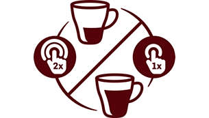 Sélecteur d'intensité, pour un café long et doux ou court et serré