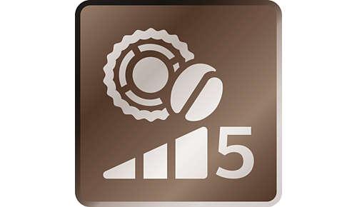 Nastavte délku, vyberte zpěti možností síly kávy a dvanácti stupni nastavení mlýnku