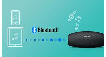 Wireless music streaming via Bluetooth
