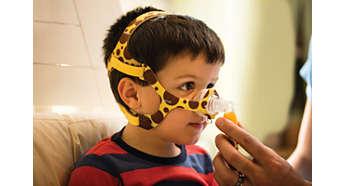 Maske specielt designet til børn
