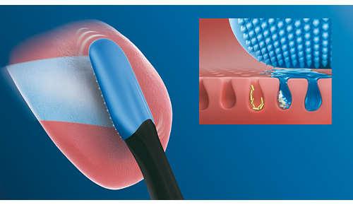 Bereik eenvoudig elk deel van uw tong