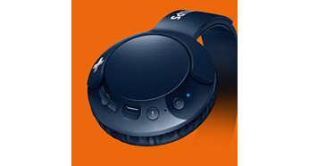 Kontroluj rozmowy, muzykę i głośność za pomocą przełączników na elemencie nausznym