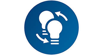 Forma y tamaño similar a las bombillas halógenas estándar