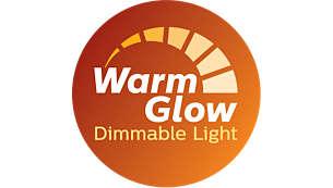 Dims to a warm glow