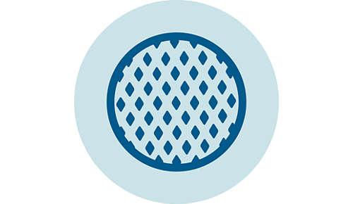 Filtrul microporos blochează orice impurităţi