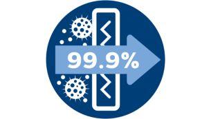Antialerginis filtras, išsiskiriantis 99,9 % filtravimu