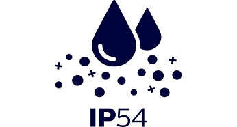 Splash water and dust protected – IP54
