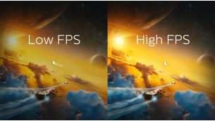 Up to 3,000 FPS refresh rate for quick action