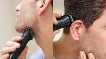 Zastřihujte a upravujte svou tvář a vlasy pomocí 9 nástavců.