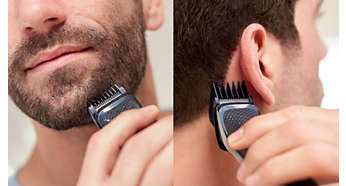 Trimmen und stylen Sie Ihren Bart und Ihre Haare mit 9Aufsätzen