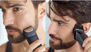 Definisci e rifinisci lo stile di barba e capelli con 9 accessori