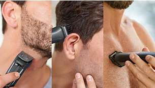 Trim and style your face, hair and body with 9 tools