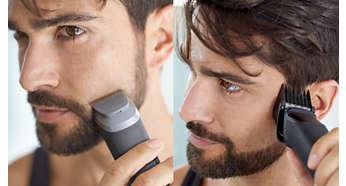 9 başlıkla saçınızı, sakalınızı ve vücudunuzdaki tüyleri düzeltin ve şekillendirin