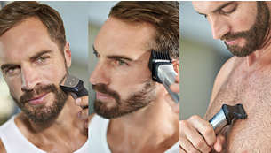 Trim and style your face, hair and body with 12 tools