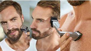 Definisci e rifinisci lo stile di barba, capelli e corpo con 12 accessori