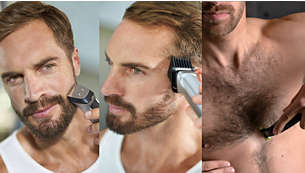 Τριμάρετε και δώστε στυλ στο πρόσωπό σας, τα μαλλιά και το σώμα με 13 εξαρτήματα