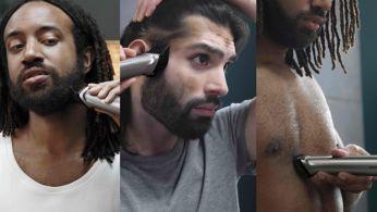 Recorta y perfila tu cabello y vello facial y corporal con 14accesorios