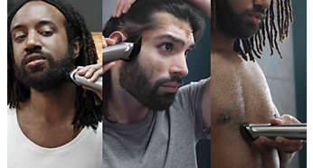 Trim and style your face, hair and body with 14 tools