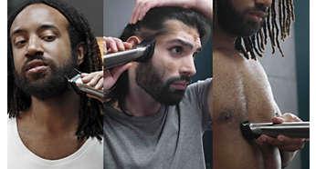 Trimmen und stylen Sie Ihr Gesicht, Ihre Haare und Ihren Körper mit 14Aufsätzen