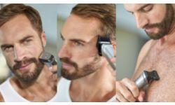 Подравнивайте волосы на голове, лице и теле и создавайте свой стиль с помощью 16 насадок
