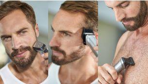 Taillez et stylisez votre barbe, vos cheveux et les poils de votre corps avec 16outils