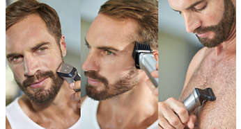 Trim and style your face, hair and body with 16 tools