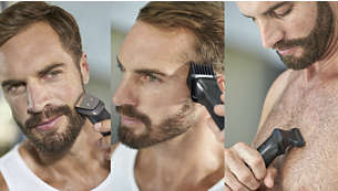 Trim and style your face, hair and body with 18 tools